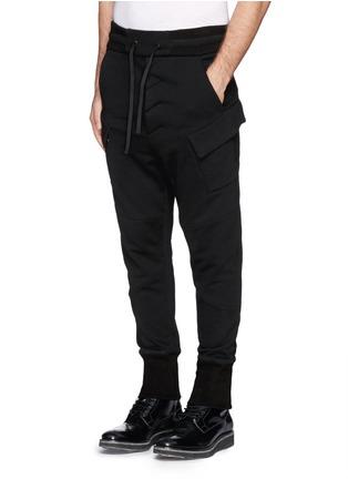 Helmut Lang-Drawstring waist fleece sweatpants