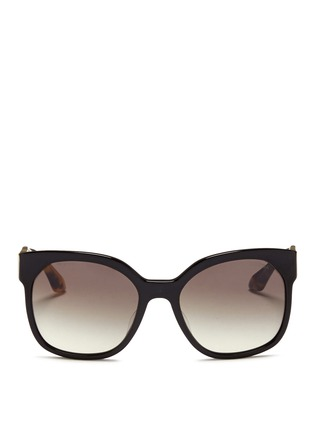 Main View - Click To Enlarge - Prada - Tortoiseshell temple acetate sunglasses