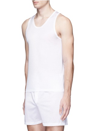 Figure View - Click To Enlarge - Zimmerli - 252 Royal Classic' jersey tank top