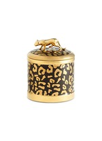 Leopard scented candle
