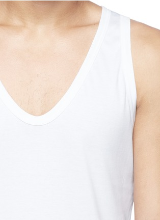 Detail View - Click To Enlarge - Zimmerli - '286 Sea Island' tank top