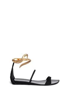 GIUSEPPE ZANOTTI DESIGNCrick serpent anklet suede sandals