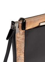 'Ishi' metallic leather wristlet