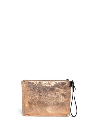 Back View - Click To Enlarge - TIME'S ARROW - 'Ishi' metallic leather wristlet