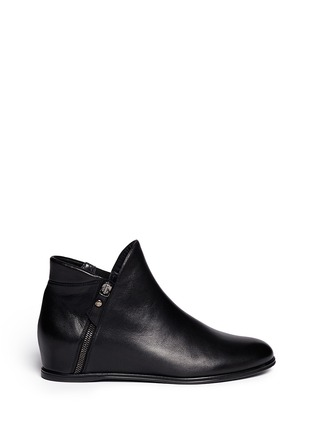 Stuart Weitzman - 'Lowkey' leather concealed wedge ankle boots
