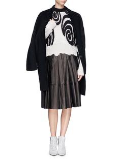 ACNE STUDIOS'Gaze ps' merino wool blend swirl mohair sweater