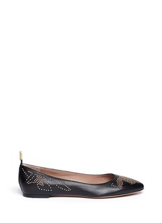 CHLOÉ Susannah studded leather ballerinas