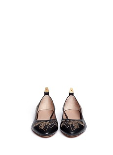CHLOÉ 'Susannah' stud leather flats