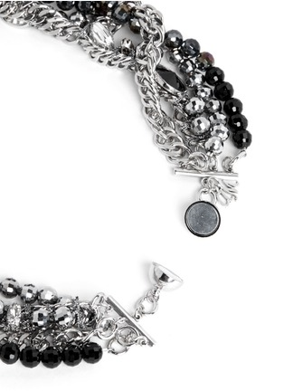 Detail View - Click To Enlarge - MOUNSER - Multi chain strass necklace