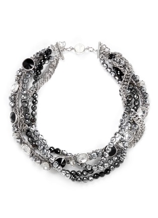 Main View - Click To Enlarge - AMANDA MOUNSER - Multi chain strass necklace