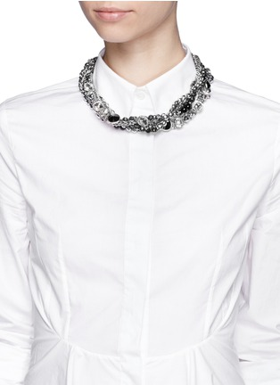 Figure View - Click To Enlarge - AMANDA MOUNSER - Multi chain strass necklace