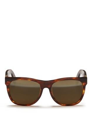 首图 - 点击放大 - SUPER - 中性款玳瑁方框太阳眼镜