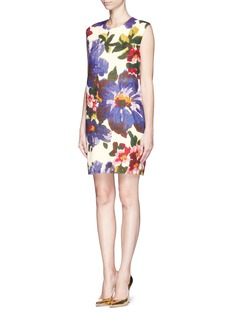 MS MINFloral print cocoon dress