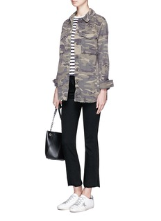 Topshop Camouflage print twill jacket