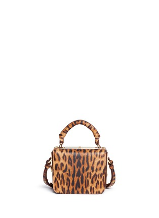 Detail View - Click To Enlarge - Sophie Hulme - 'Finsbury' small leopard print leather crossbody bag