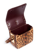 'Finsbury' small leopard print leather crossbody bag