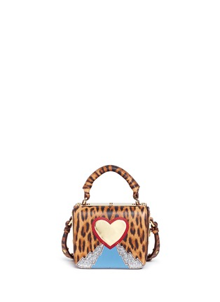Main View - Click To Enlarge - Sophie Hulme - 'Finsbury' small leopard print leather crossbody bag