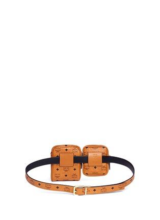 Detail View - Click To Enlarge - MCM x Christopher Raeburn - Visetos canvas modular crossbody belt bag