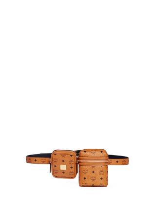 Main View - Click To Enlarge - MCM x Christopher Raeburn - Visetos canvas modular crossbody belt bag