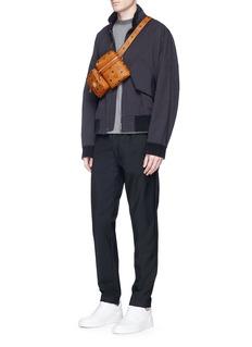 MCM x Christopher RaeburnVisetos canvas modular crossbody belt bag