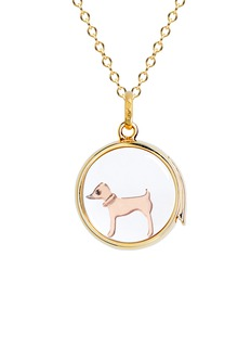 Loquet London 18k rose gold sapphire Chinese New Year charm - Dog