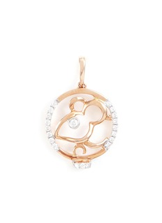 LC COLLECTION JEWELLERY Diamond 18k rose gold Chinese zodiac pendant - Rat