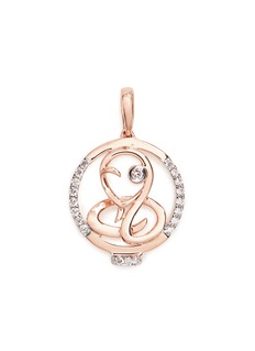 LC COLLECTION JEWELLERY Diamond 18k rose gold Chinese zodiac pendant - Snake