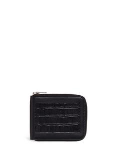 Alexander Wang Croc embossed panel leather bifold zip wallet