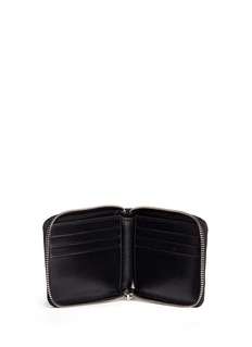 Alexander Wang  Croc embossed panel leather bifold zip wallet