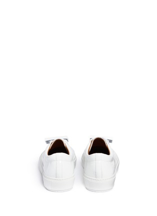 Back View - Click To Enlarge - Acne Studios - 'Adriana' emoticon plate patent leather sneakers