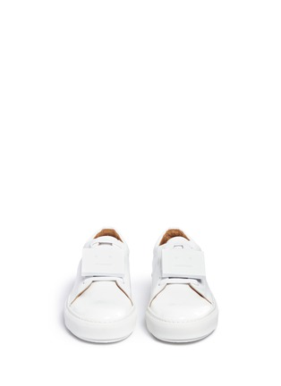 Front View - Click To Enlarge - Acne Studios - 'Adriana' emoticon plate patent leather sneakers