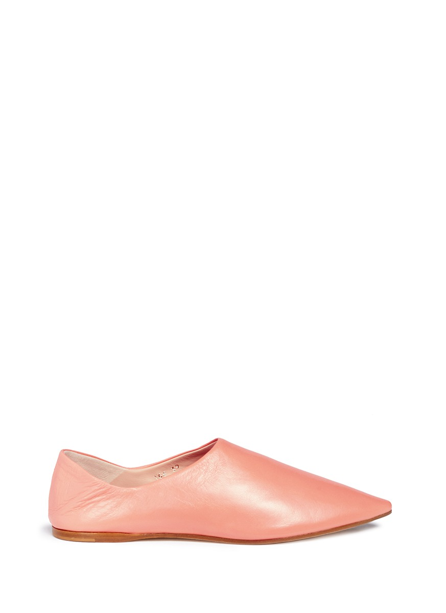 Amina leather babouche slides by Acne Studios