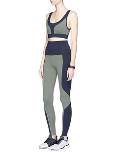 Live The Process 'Geometric' foldable waist performance leggings