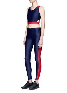 Laain'Bianca' contrast stripe performance leggings
