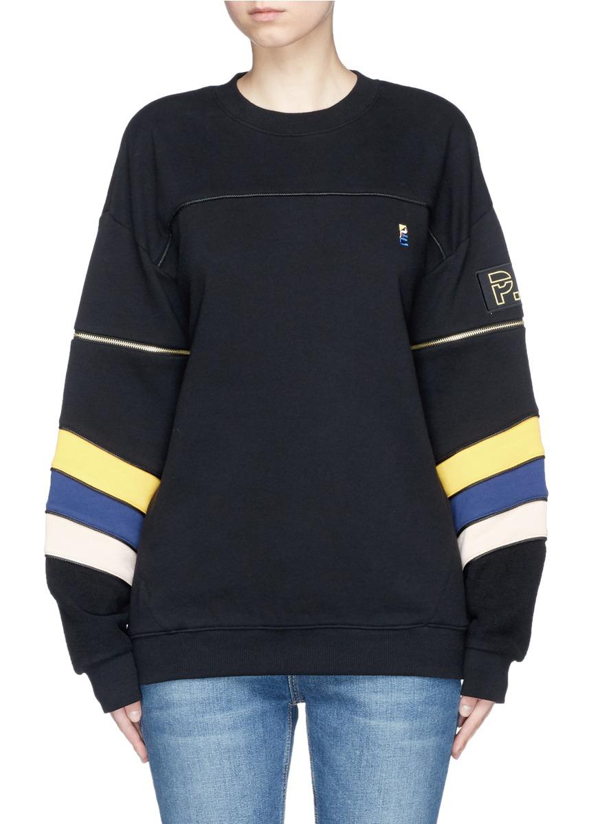 Flash Gordon detachable zip sleeve stripe sweater by P.E Nation
