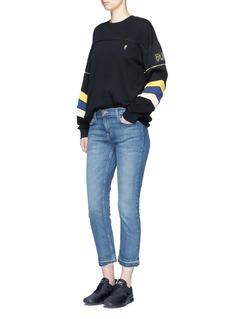 P.E Nation'Flash Gordon' detachable zip sleeve stripe sweater