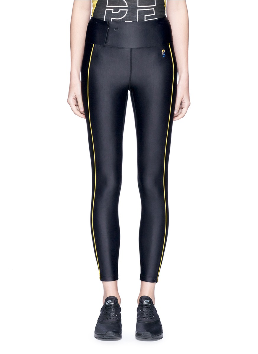 The Rock contrast piping performance leggings by P.E Nation