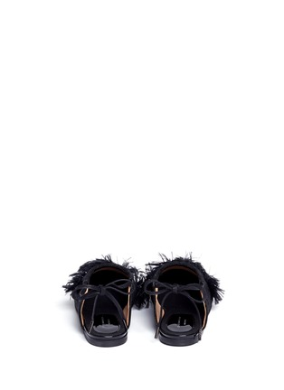 Back View - Click To Enlarge - Dries Van Noten - Frayed pompom jacquard flats