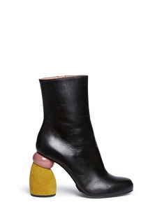 Dries Van NotenSuede sculptural heel leather boots
