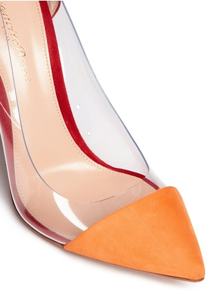 Detail View - Click To Enlarge - Gianvito Rossi - 'Plexi' clear PVC colourblock suede pumps