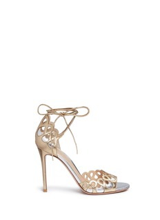 Gianvito Rossi 'Samba' cutout eyelet metallic leather sandals