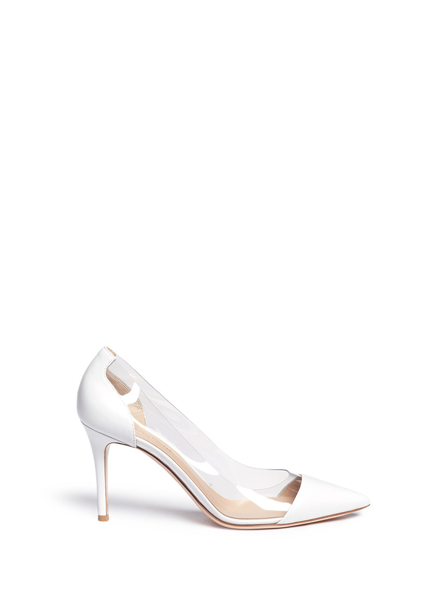 Plexi clear PVC leather pumps by Gianvito Rossi