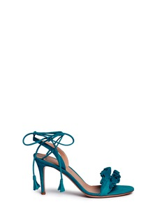 Gianvito Rossi 'Flora' ruffle band suede sandals