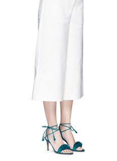 Gianvito Rossi'Flora' ruffle band suede sandals