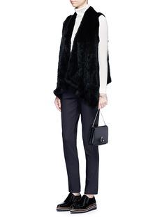 H Brand'Audra' drape hem rabbit fur vest