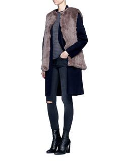 H Brand'Libby' rabbit fur vest