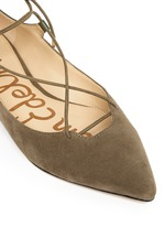 'Rosie' lace-up suede skimmer flats