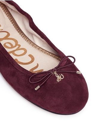 Detail View - Click To Enlarge - Sam Edelman - 'Felicia' suede ballet flats