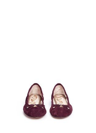 正面 -点击放大 - SAM EDELMAN - FELICIA绒面皮蝴蝶结芭蕾平底鞋