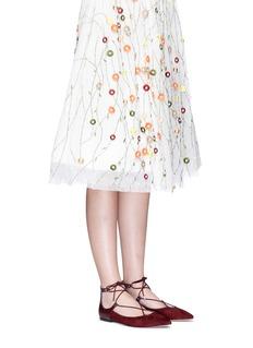 Sam Edelman'Rosie' lace-up suede skimmer flats